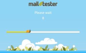 Čekání na prověření mailu ve schránce
